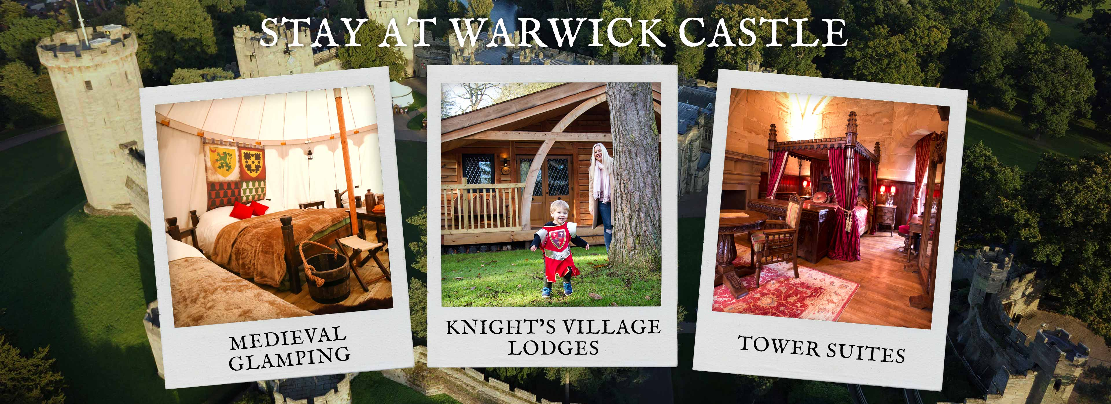 Bed and Breakfast stay at Warwick Castle