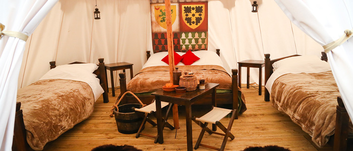Medieval Glamping at Warwick Castle