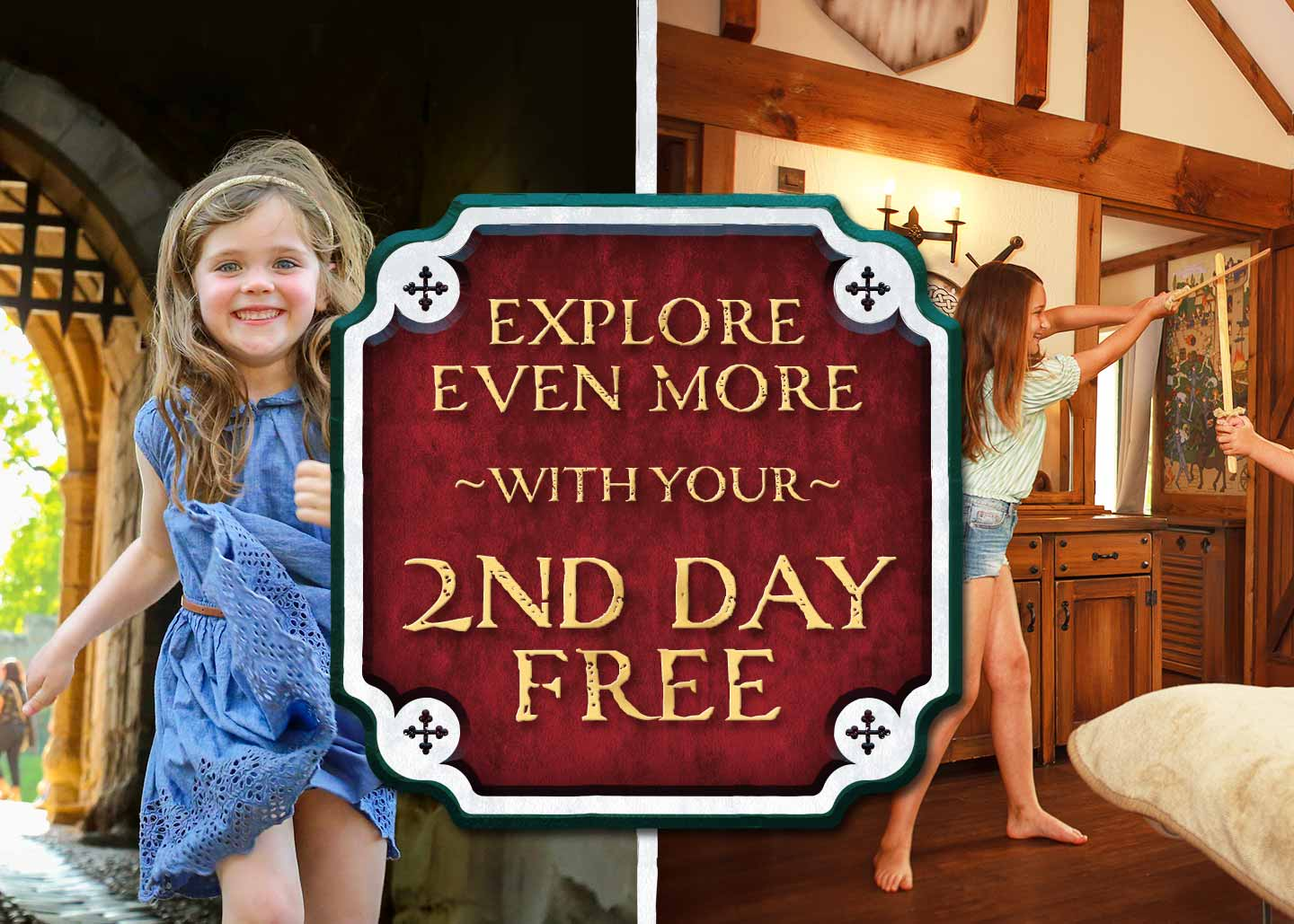 Second Day FREE at Warwick Castle